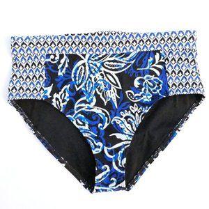 TOMMY BAHAMA Pattern Blue Swim Bikini Bottom Small